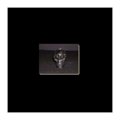 Caveira preta teschio in cera CM 10 Color nero