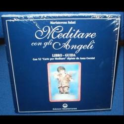 Meditare con gli angeli - Libro guida con 52 carte per meditare dipinte da Anna Corsini