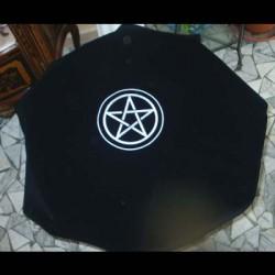 Tarot cloth nero con pentacolo