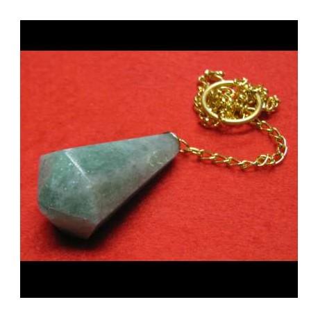 Pendolo in pietra verde a goccia