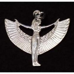 ciondolo iside alata in argento