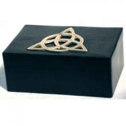 scatola porta tarocchi con triquetra
