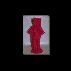 Statua in cera EXÚ DUAS CABECAS Color rosso