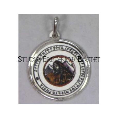 Talismano in argento San Colombano
