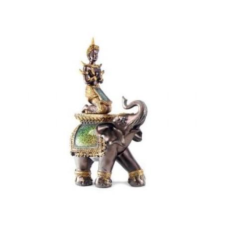 Budda tailandese su elefante
