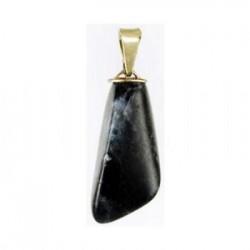 Ciondolo in pietra nera e silver