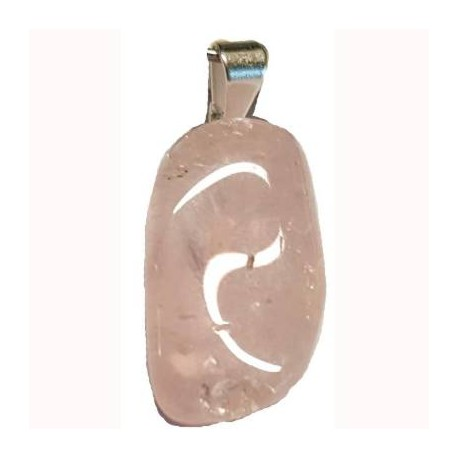 Ciondolo in pietra quarzo rosa