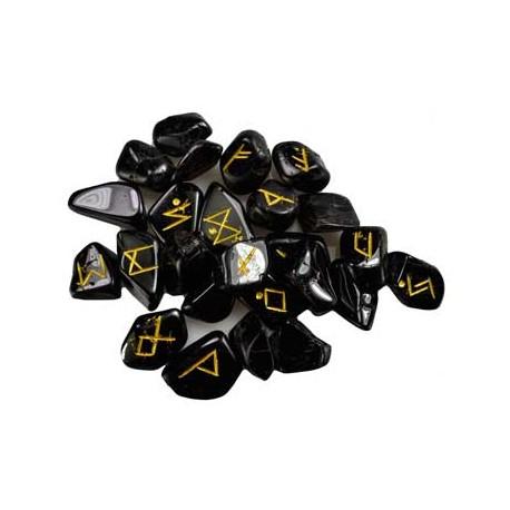 Rune in agata nera
