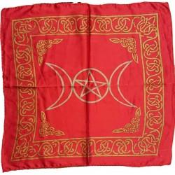 Telo altare tre lune rosso