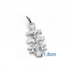 croce de caravaca in argento sterling 925 18mm