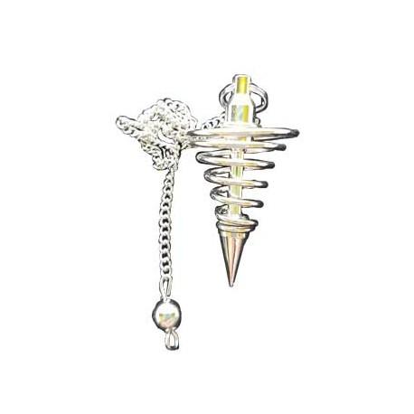 Pendolo a spirale in silver